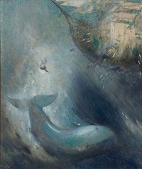 scene from moby dick by julius moessel