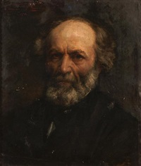 a portrait of a bearded gentleman by félix armand marie jobbe-duval