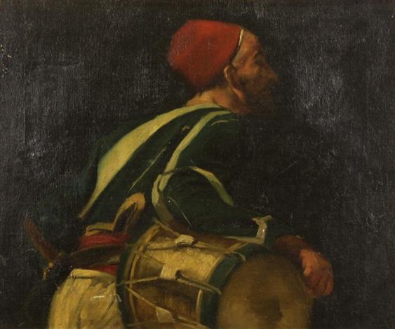 a zouave drummer by eugène delacroix