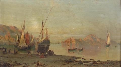 fishing boats on the italian coast by alessandro la volpe