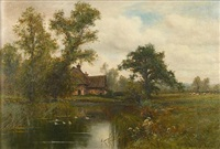 a country cottage by a duck pond by wiggs kinnaird