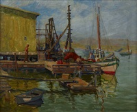 harbor scene by blanche whelan