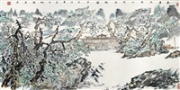 landscape of spring by xie lin