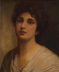 a portrait of a girl, shoulder-length by sir samuel luke fildes