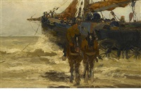 dutch fishermen by charles paul gruppe