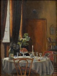 a dining room interior by patrick william adam