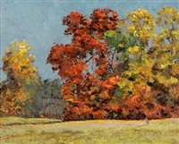 autumn landscape by robert wesley amick