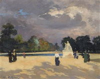 le bassin des tuileries by jules ernest renoux