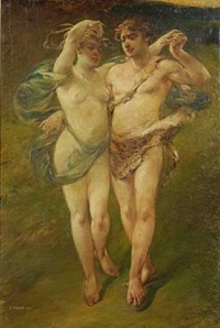 a bacchanalian couple by emile renard