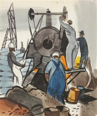 railway workers by george booth post