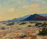 desert in bloom (palm springs) by james arthur merriam
