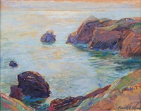 ocean bluffs (+ bay at evening, smllr; 2 works) by frank harmon myers