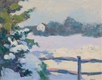winter scene by agnes anne abbot