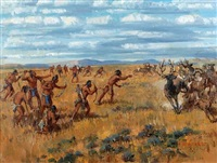 blackfeet on the hunt, montana by marco antonio gomez
