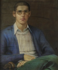 portrait of a young man by maxim zdasiuk