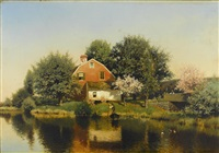a home by a riverside by henry pember smith