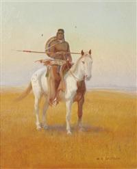 inidan on horseback by w. steve seltzer