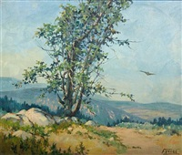 california landscape with a tree by florence upson young