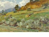 wyoming rockies landscape by frank tenney johnson