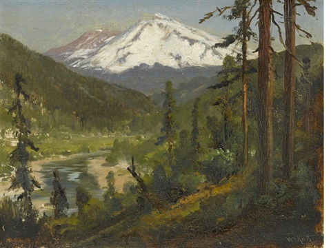 snow capped mountains by william keith