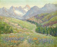 spring landscape by frederick carl smith