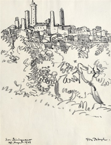 san gimignano 2 works by fritz bleyl