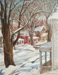 street scene in winter by florence white williams