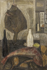 fish and bottles by raymond guerrier