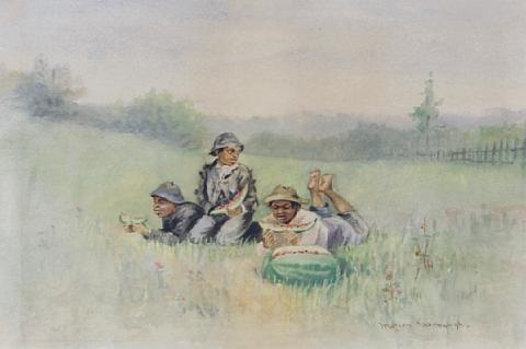 kids eating watermelon by marion kavanaugh wachtel
