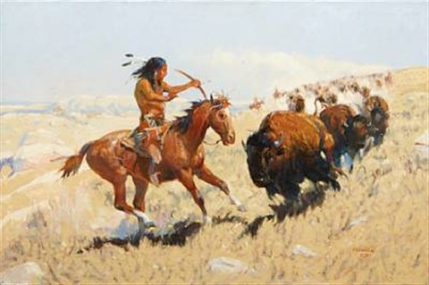 buffalo hunt by joe ferrara