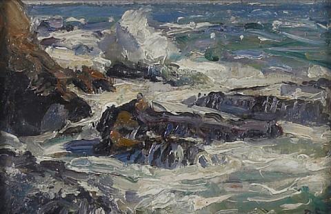 rocky coastal scene by george gardner symons