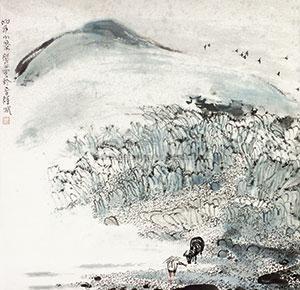 山川小景 by zhu daoping