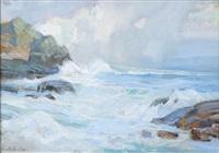 coastal scene by theodore n. lukits
