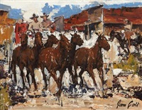 stagecoach headin' out by james colt