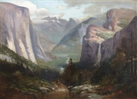 yosemite valley from near inspiration point by jules r. mersfelder