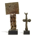 untitled (+ untitled, bronze; 2 works) by emerson woelffer