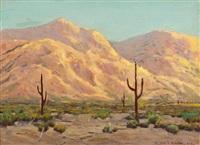 cactus in a desert landscape by william p. krehm