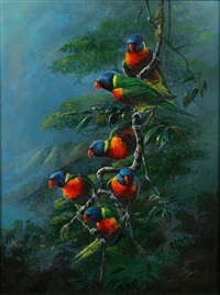 rainbow lories by gamini p. ratnavira