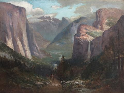 yosemite valley from near inspiration point by jules r mersfelder