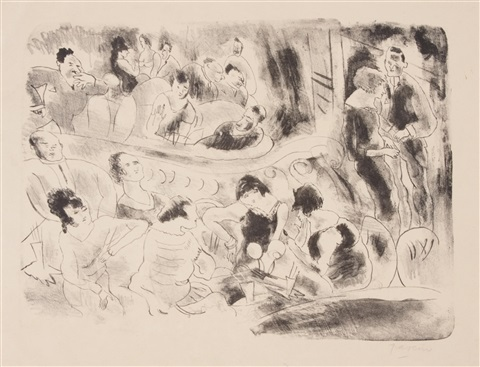 music hall by jules pascin