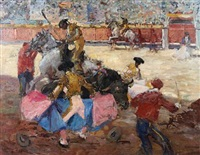 bullfight scene by mario agostinelli
