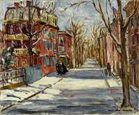snowy street by sara kolb danner