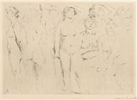 stehende weibliche akte by lovis corinth