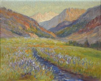 mountain meadow / high sierras by frederick carl smith
