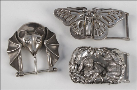 belt buckles set of 3 by kieselstein cord