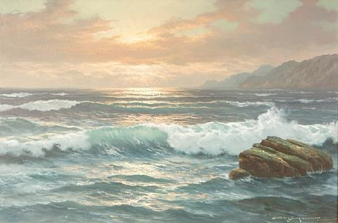 seascape (+ another; pair) by anton gutknecht