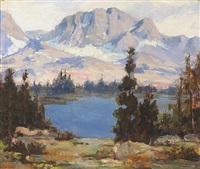 sierra lake scene by arthur chance amos
