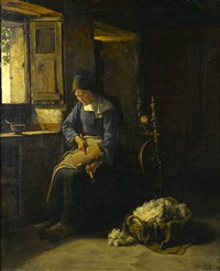 carding wool by edgar melville ward