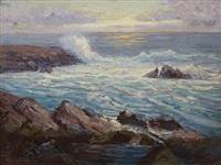 coastal scene by frederick carl smith