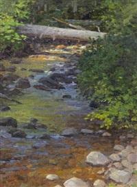 fern creek, glacier, montana (study) by ralph oberg